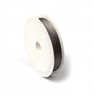Ocelový drát s nylonovým jádrem - šedý - ∅ 0,38 mm - 50 m - 1 ks