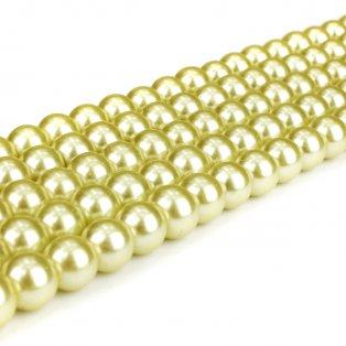 Voskované perly - narcisově žluté - Ø 8 mm - 10 ks