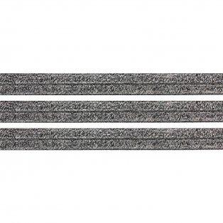 Elastická stuha - třpytivě černá - 1,5 cm - 30 cm - 1 ks