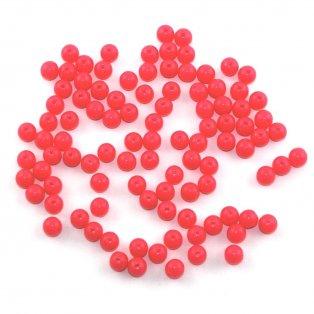 Akrylové neonové korálky - růžovooranžové - ∅ 8 mm - 10 ks