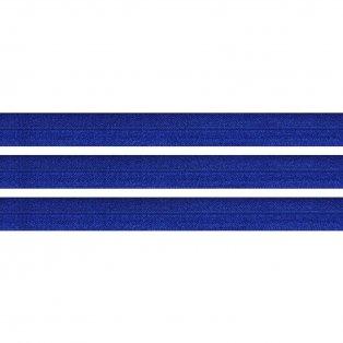 Elastická stuha - berlínská modř - 2 cm - 30 cm - 1 ks