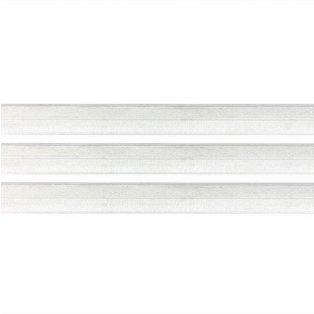 Elastická stuha - sněhově bílá - 2 cm - 30 cm - 1 ks