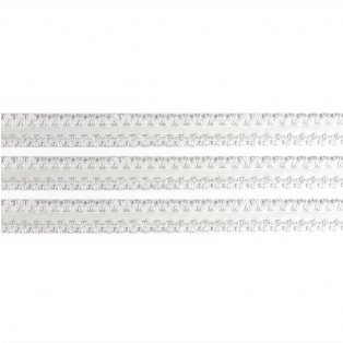 Elastická stuha - sněhově bílá - krajka - 1,9 cm - 30 cm - 1 ks