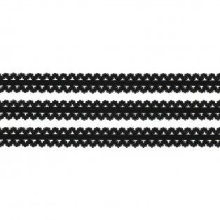 Elastická stuha - černá - krajka - 1,9 cm - 30 cm - 1 ks