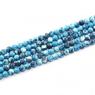 Syntetický oceánský nefrit - modrošedý - ∅ 6 mm - 1 ks