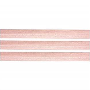 Elastická stuha - pudrově růžová - 1,5 cm - 30 cm - 1 ks
