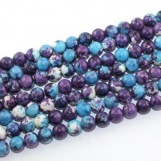Syntetický oceánský nefrit - modrofialový - ∅ 8 mm - 1 ks