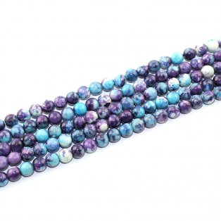 Mořský nefrit - modrofialový - ∅ 6 mm - 1 ks