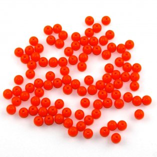 Akrylové neonové korálky - oranžové - ∅ 8 mm - 10 ks