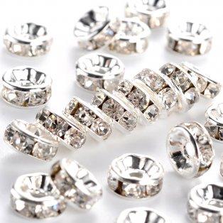 Mosazná rondelka  - stříbrná - třída A - ∅ 8 x 3.5 mm - 1 ks