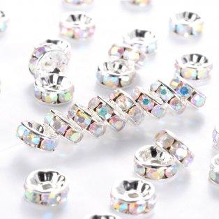 Mosazná rondelka  - stříbrná - třída A - ∅ 8 x 3.8 mm - 1 ks