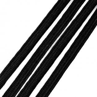 Prádlová pruženka - černá - 5 mm - 1 m - 1 ks