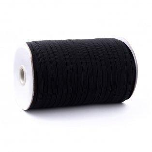 Prádlová pruženka - černá - 5 mm - 180 m - 1 ks
