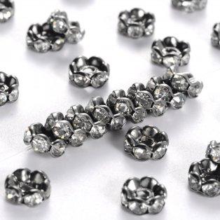Mosazná rondelka - ocelově šedá - třída A - vroubkovaná - ∅ 6 x 3 mm - 1 ks