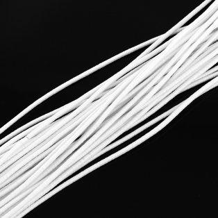 Klobouková guma na výrobu roušek - bílá - ∅ 4 mm - 100 m - 1 ks