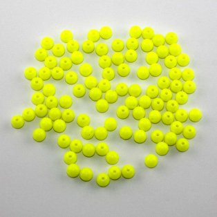 Akrylové neonové korálky - žluté - ∅ 8 mm - 10 ks