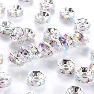 Mosazná rondelka - stříbrná - třída AAA - ∅ 7 x 3,2 mm - 1 ks