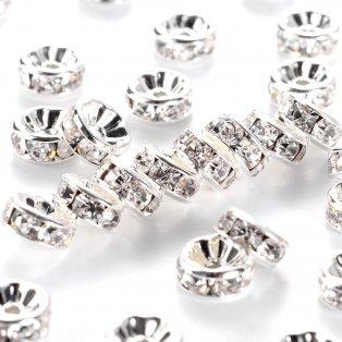 Mosazná rondelka - stříbrná - třída AAA - ∅ 8 x 3,8 mm - 1 ks