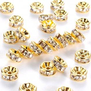 Mosazná rondelka - zlatá - třída AAA - ∅ 8 x 3,8 mm - 1 ks