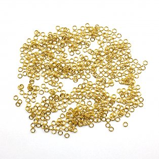 Mosazné spojovací kroužky - zlaté - Ø 4 x 0,8 mm - 5 g