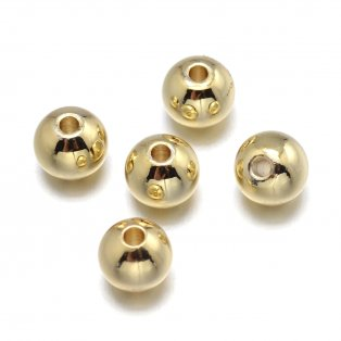 Mosazný korálek - zlatý - ∅ 4 mm - 1 ks