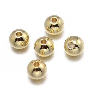 Mosazný korálek - zlatý - ∅ 6 mm - 1 ks