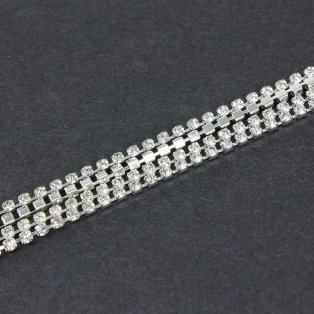 Mosazný řetízek - stříbrný - Ø 2 mm - 1,1 m - 1 ks
