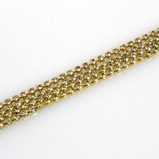 Mosazný řetízek - zlatý - Ø 2 mm - 1,1 m - 1 ks