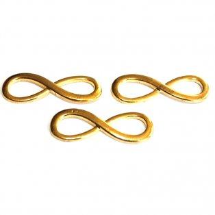 Nekonečno - zlaté - 30 x 10 x 2 mm - 1 ks