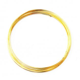 Ocelový paměťový drát - zlatý - Ø 5,5 cm - 10 vrutů