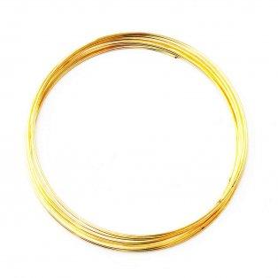 Ocelový paměťový drát - zlatý - Ø 6,5 cm - 10 vrutů