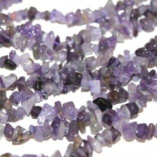 Zlomky z přírodního ametystu - fialové - 4~10x4~6x2~4 mm - 10 ks