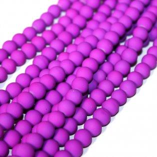 Pogumované korálky - fialové - ∅ 8 mm - 10 ks
