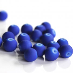 Pogumované korálky - tmavě modré - ∅ 8 mm - 10 ks