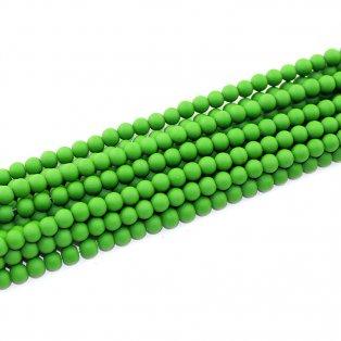 Pogumované korálky - tmavě zelené - ∅ 6 mm - 10 ks