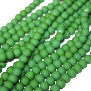 Pogumované korálky - tmavě zelené - ∅ 8 mm - 10 ks