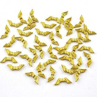 Andělská křídla - zlatá - 21 x 8 mm - 1 ks