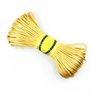 Saténová šňůra - neapolská žlutá - ∅ 2 mm - 20 m - 1 ks