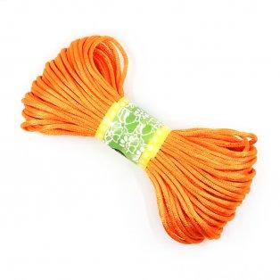 Saténová šňůra - oranžová - ∅ 2 mm - 20 m - 1 ks