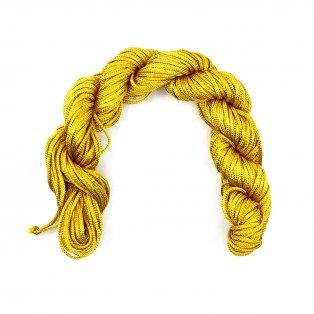 Nylonová šňůra - hořčicově žlutá - ∅ 1 mm - 25 m - 1 ks