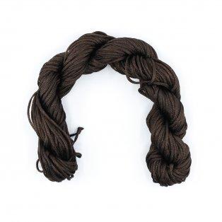 Nylonová šňůra - tmavě hnědá - ∅ 1 mm - 25 m - 1 ks