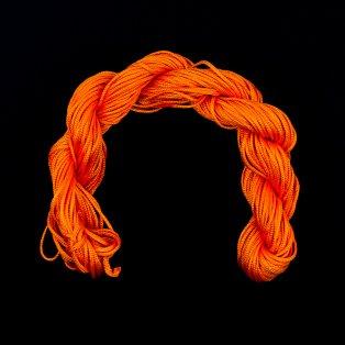 Nylonová šňůra - neonově oranžová - ∅ 1 mm - 25 m - 1 ks