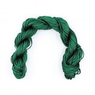 Nylonová šňůra - tmavě zelená - ∅ 1 mm - 25 m - 1 ks