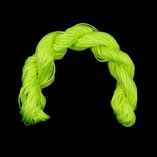 Nylonová šňůra - neonově žlutá - ∅ 1 mm - 25 m - 1 ks