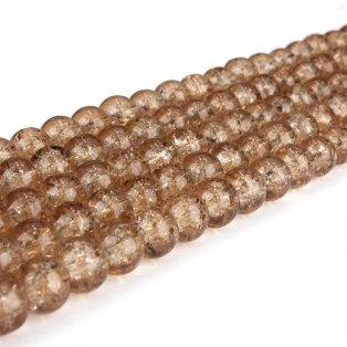 Praskané korálky - hnědé - ∅ 8 mm - 10 ks