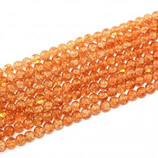 Praskané korálky - oranžové  - ∅ 8 mm - 10 ks