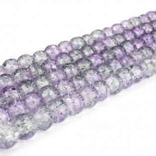 Praskané korálky - světle fialovošedé - ∅ 8 mm - 10 ks