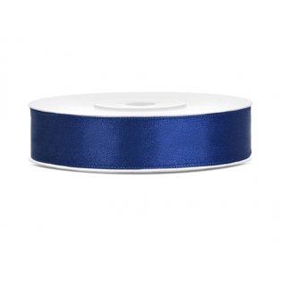 Saténová stuha, námořnická modrá, 12mm/25m (1 kus / 25 bm)