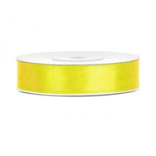 Saténová stuha, žlutá, 12mm/25m (1 kus / 25 bm)