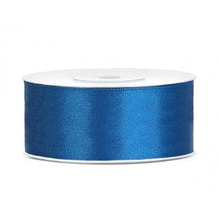 Saténová stuha, modrá, 25mm/25m (1 kus / 25 bm)